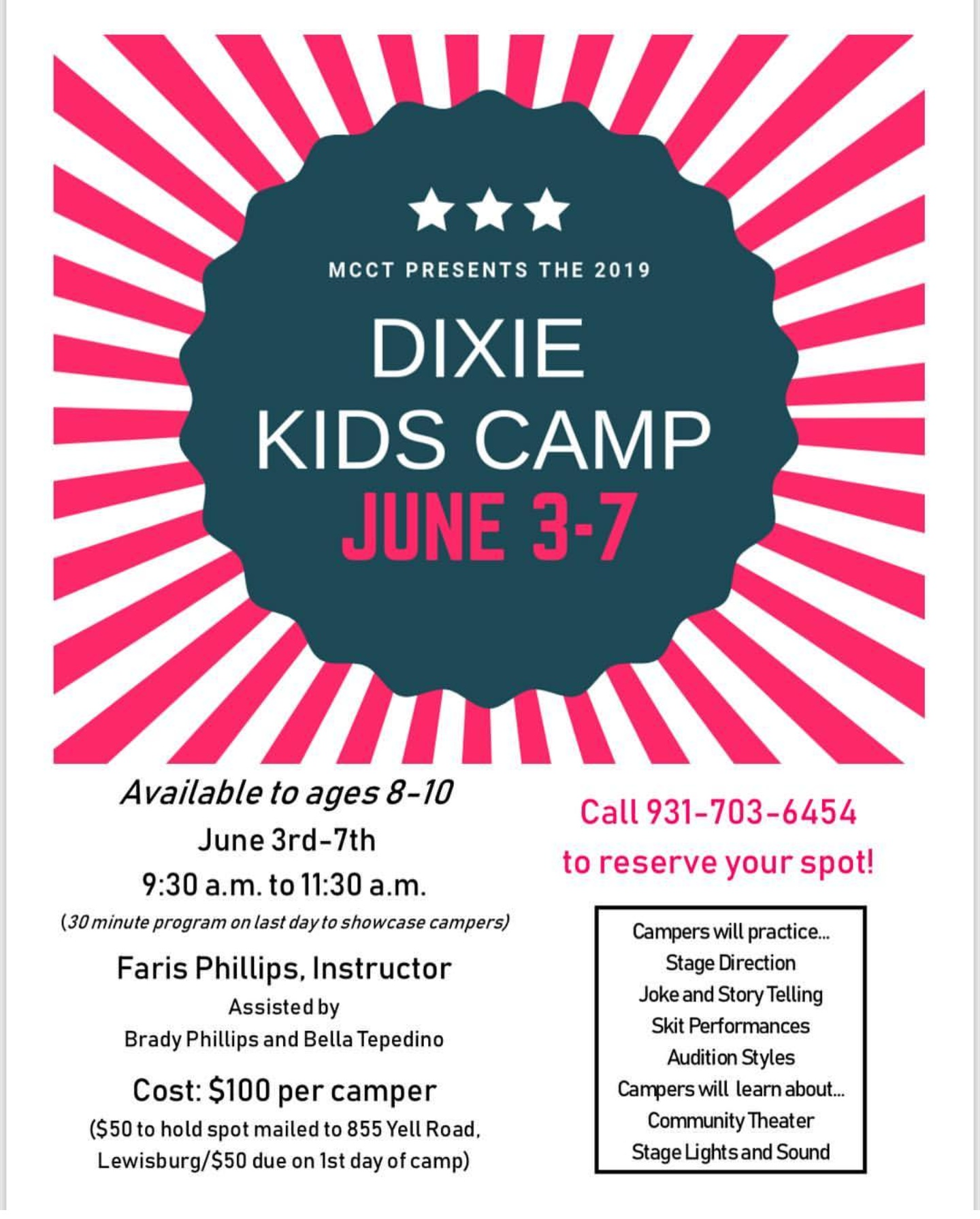 Dixie Kids Camp