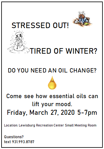 Essential Oils Stressed out March 27