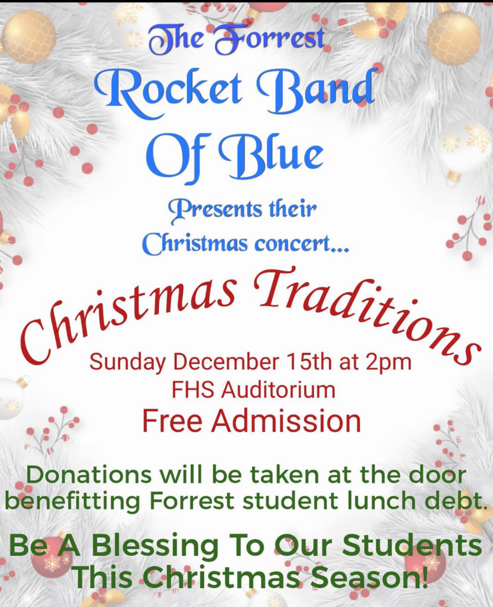 Forrest Band of Blue Christmas