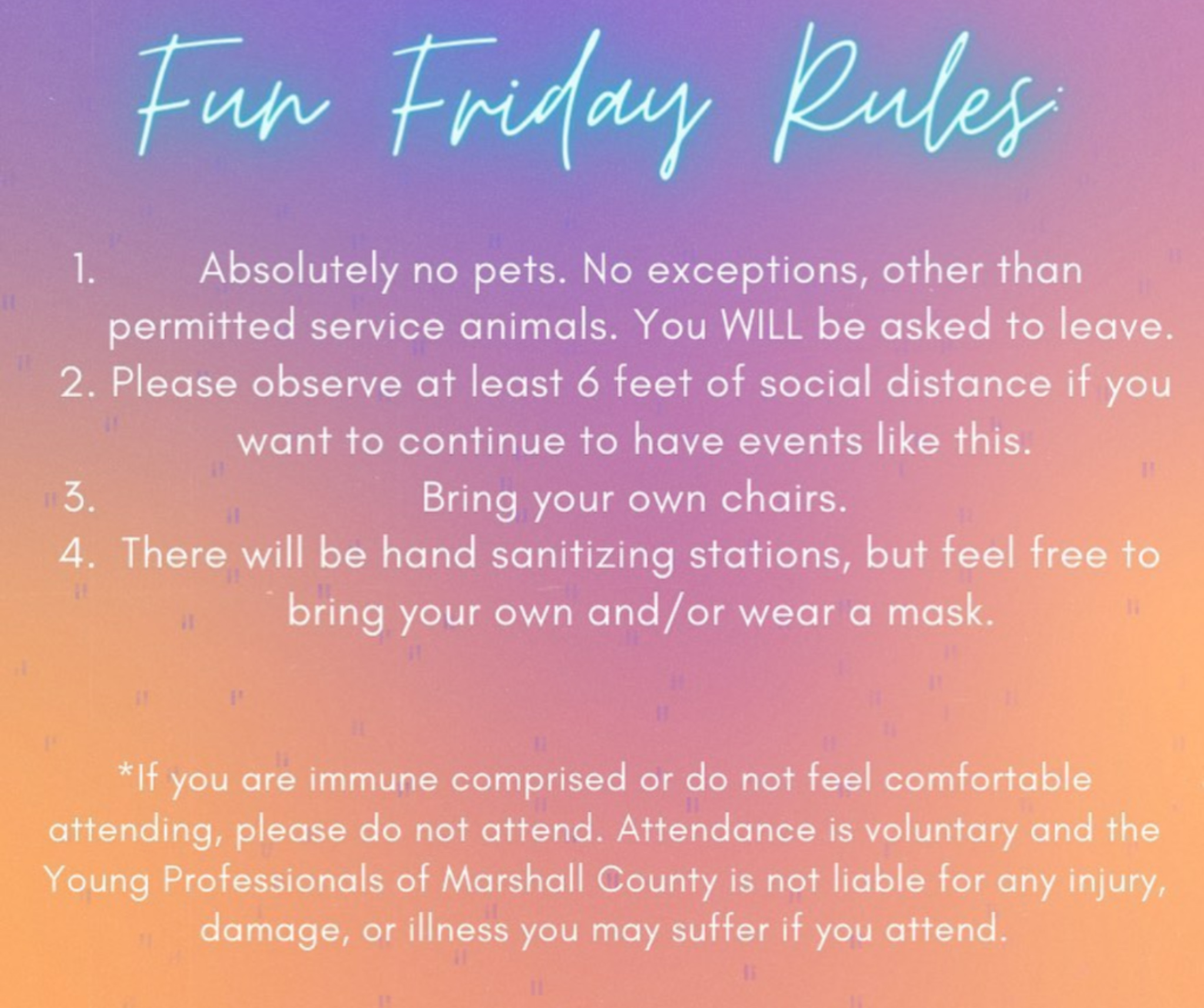 Fun Fridays Rules