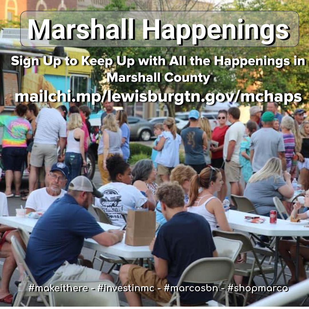 Marshall Happenings Social Card