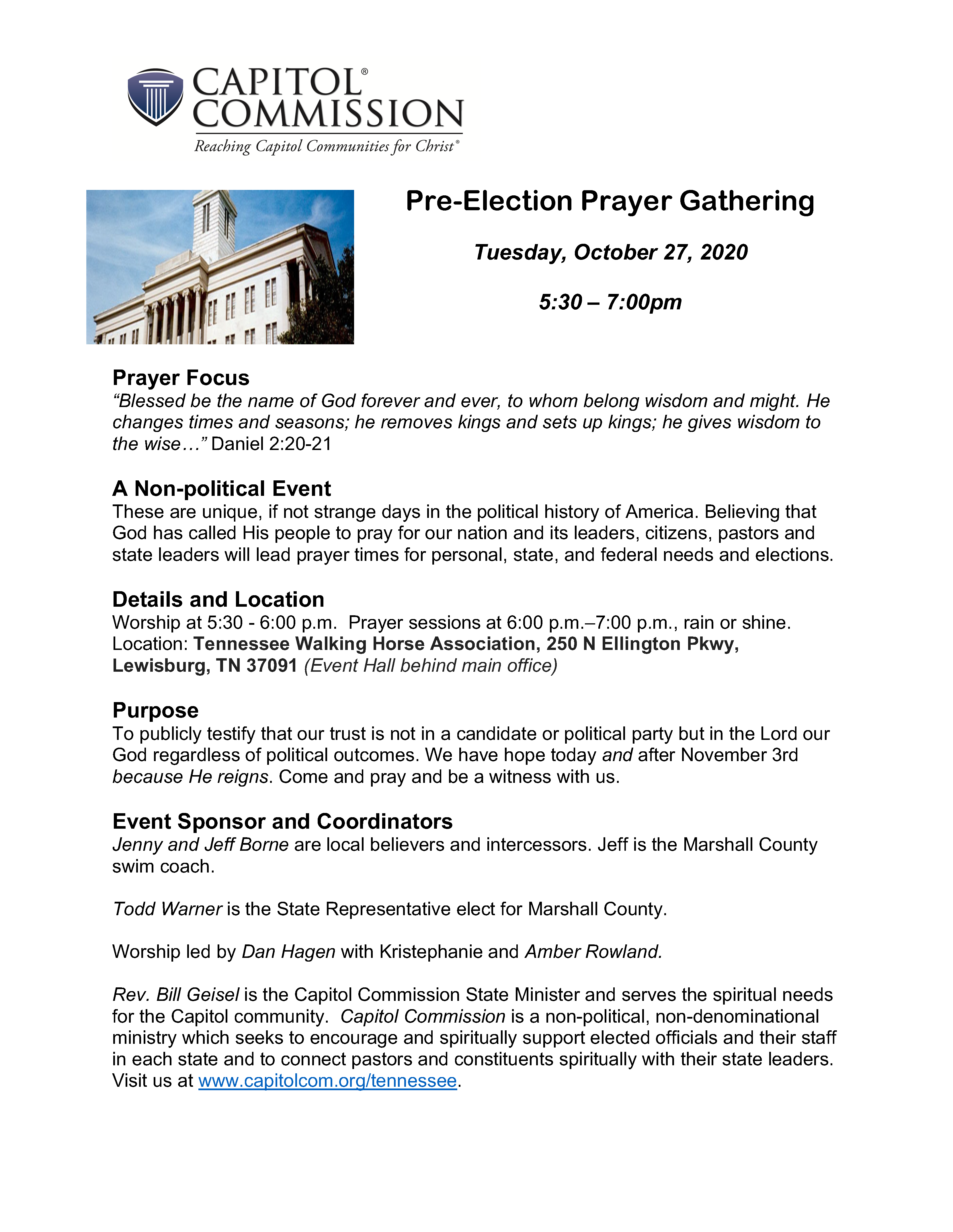 Pre Election Prayer Flyer v31266