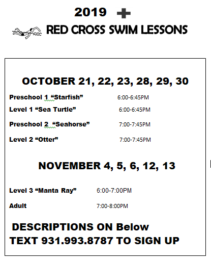 Red Cross Swim 1 2019