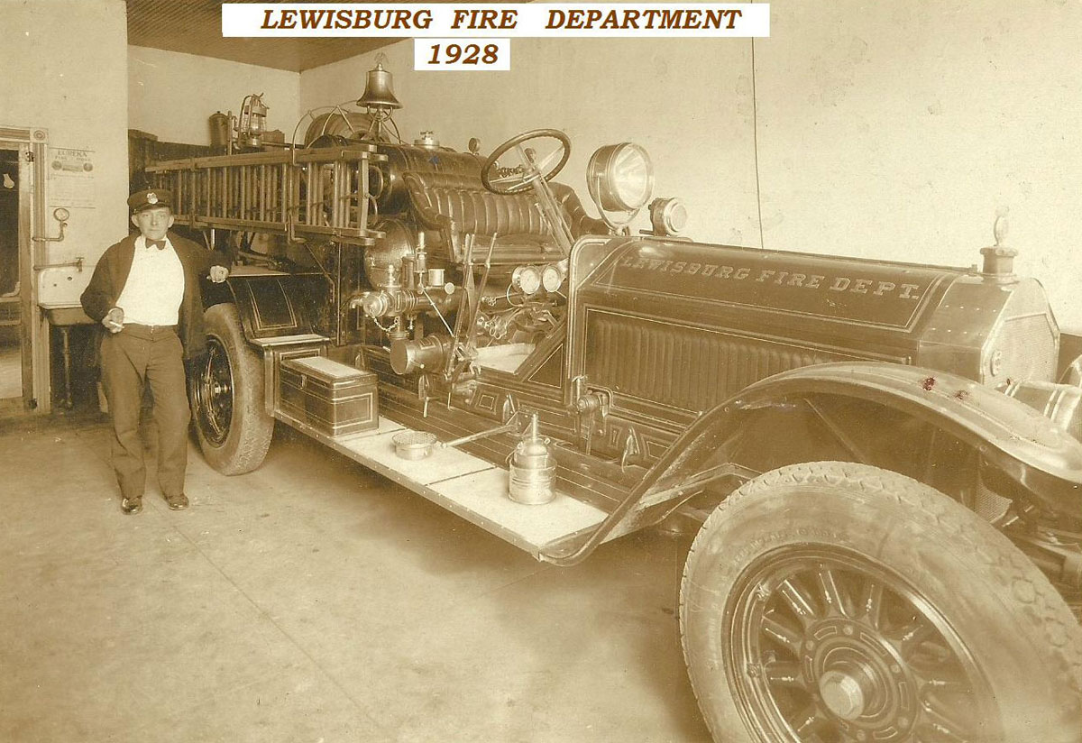 1928 - The first fire truck at the Lewisburg Fire Department