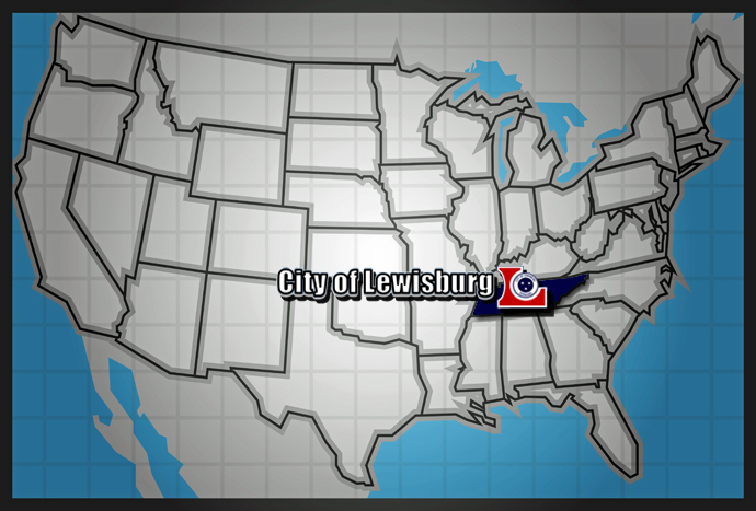 Location of Lewisburg, TN  - Nationwide